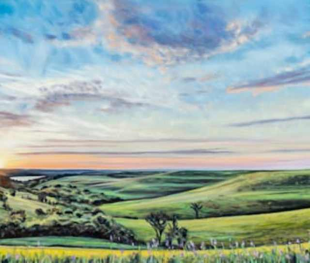 Breathtaking Landscape Paintings Of The Flint Hills And Wyoming