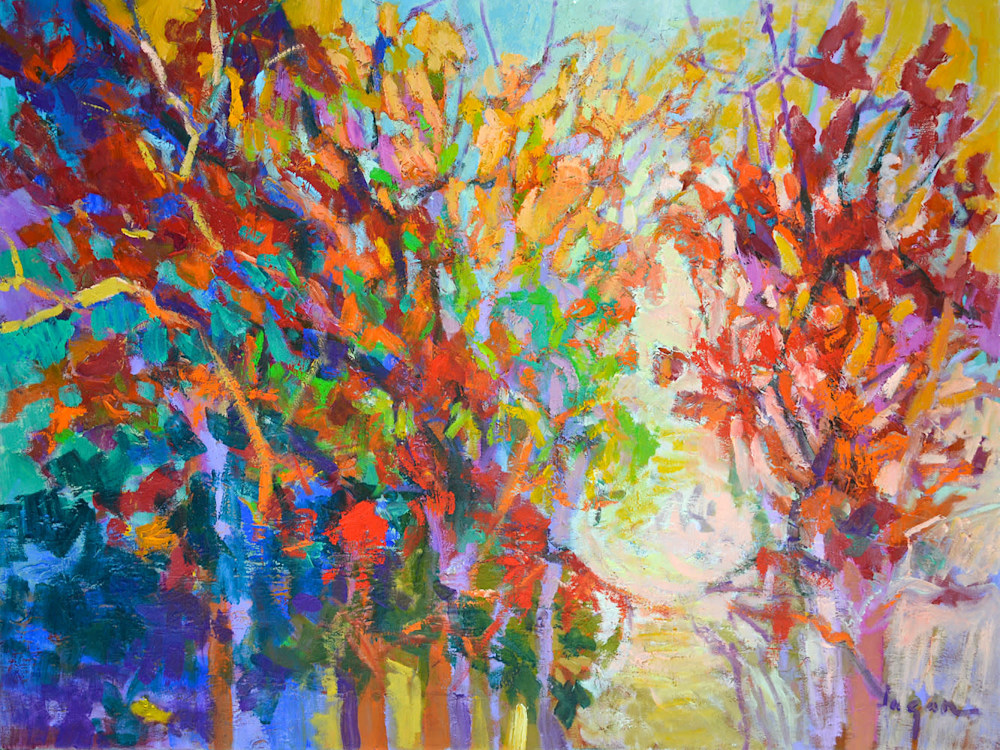 colorful autumn tree painting
