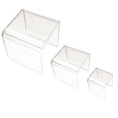 Clear Acrylic Riser Set of Three by Super