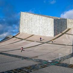 Wooden Slat Chairs How To Make A Chair Seat Peter Eisenman, Iñigo Bujedo Aguirre · City Of Culture Galicia Divisare