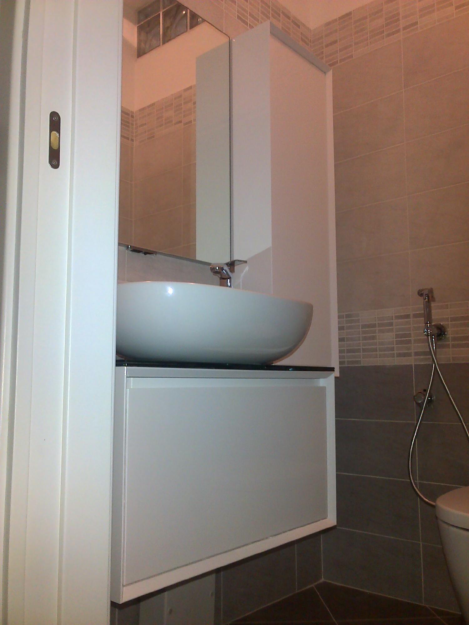 Bagno piccolo bianco specchi su misura leroy merlin elegant