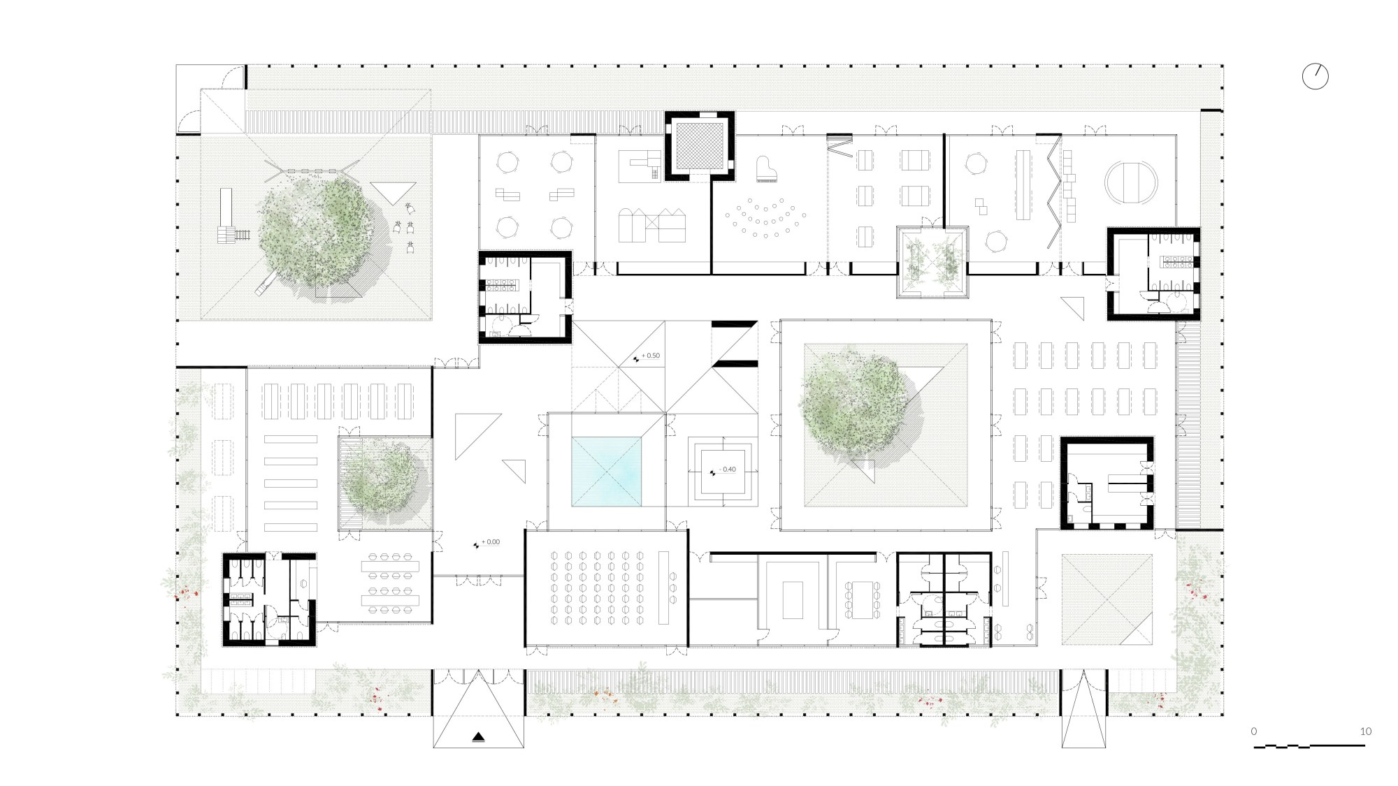 hight resolution of plans of schools u00b7 a collection curated by divisare