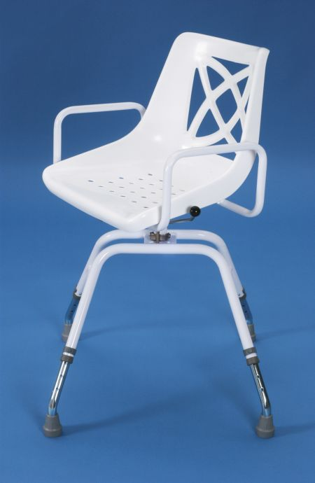 swivel chair mechanism suppliers that goes up stairs adjustable shower with perforated seat - living made easy