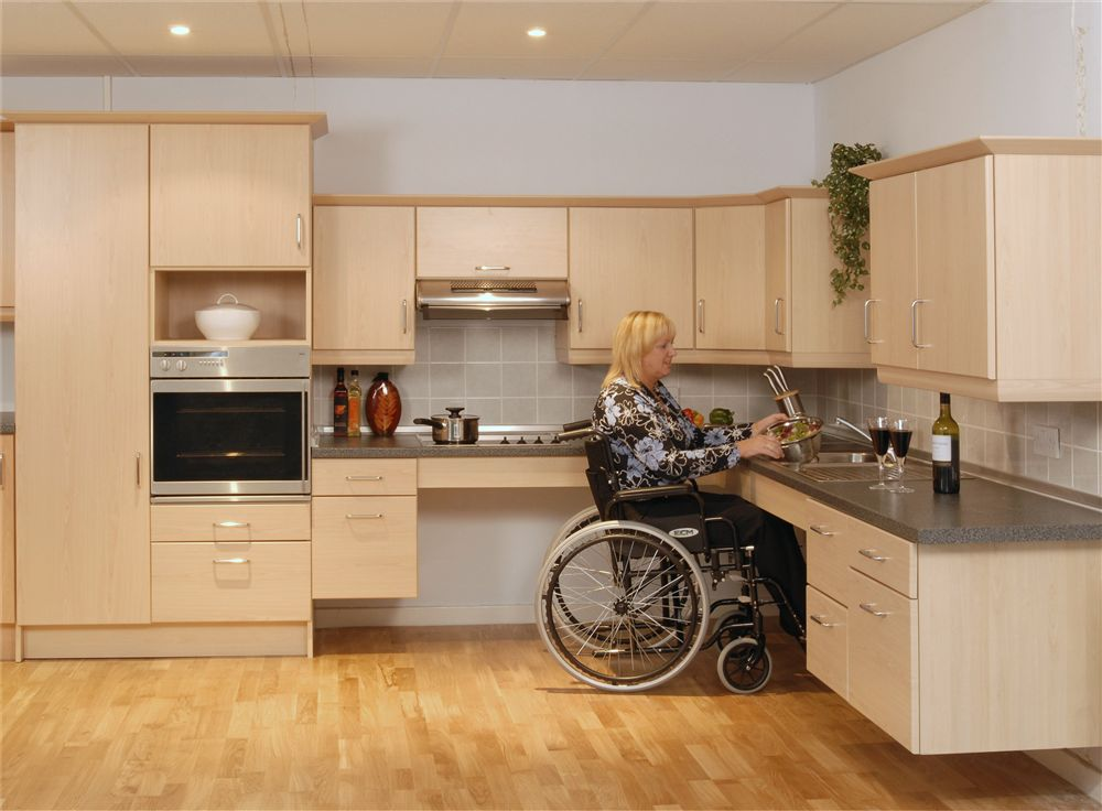 handicap accessible kitchens costco kitchen table system flex - living made easy