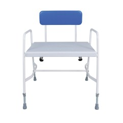 Shower Chair With Back And Armrests Wedding Covers Northampton Extra Wide Stool Living Made Easy