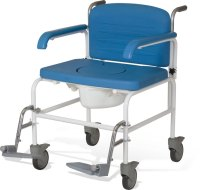 Bariatric Mobile Shower Commode Chair - Living made easy