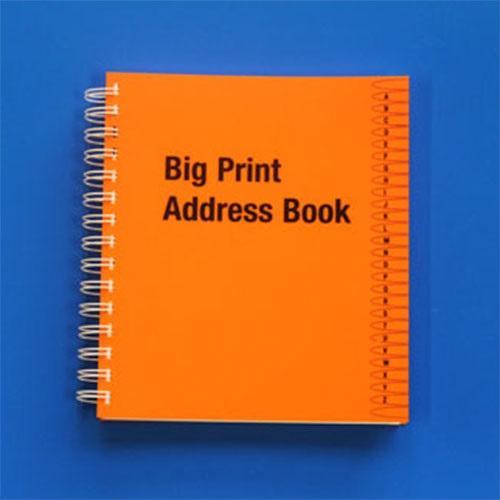 Big Print Address Book  Living made easy