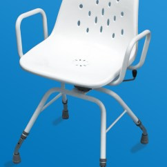 Shower Chair With Back And Armrests Cover Hire Walsall Myco Ultra Swivel Living Made Easy