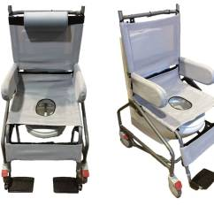Shower Chair With Wheels And Removable Arms Beige Leather Dining Chairs Manual Tilt In Space Height Adjustable Commode