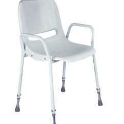 Shower Chair With Back And Armrests Broyhill Office Milton Stackable Portable Living Made Easy
