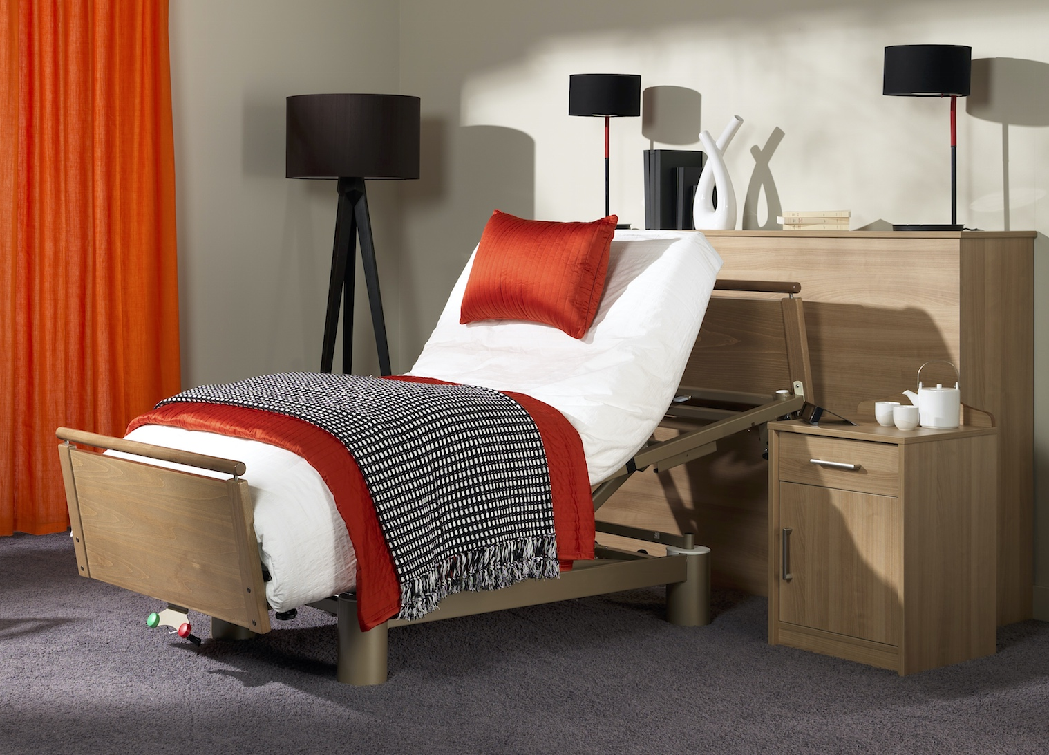 Altera 922 Height Adjustable Profiling Bed  Living made easy