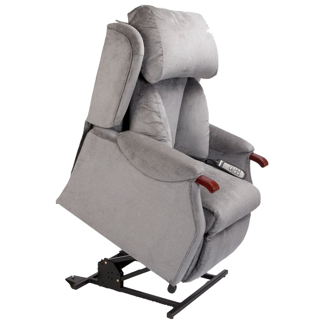 recliner chair height risers ergonomic jupiter dual motor tilt in space riser living