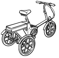 Power assisted tricycles, bicycles and conversion kits