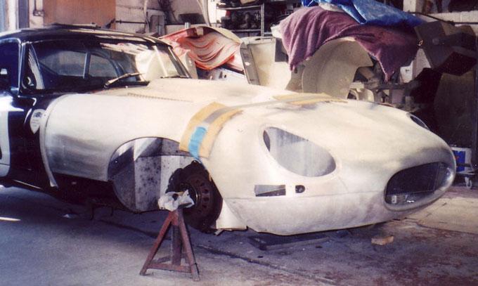 Photos Of Handmade Jaguar E Type Bonnet D Type Panels
