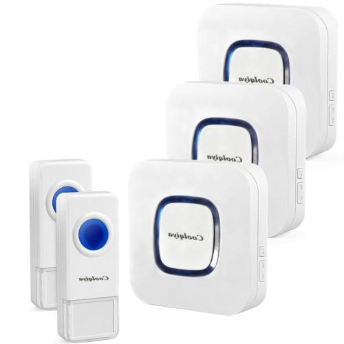 Home Wireless Doorbell Portable Remote Button Chimes Receiver