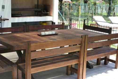 Muebles de JardinMesa de QuinchoEL CERNE Maderas San