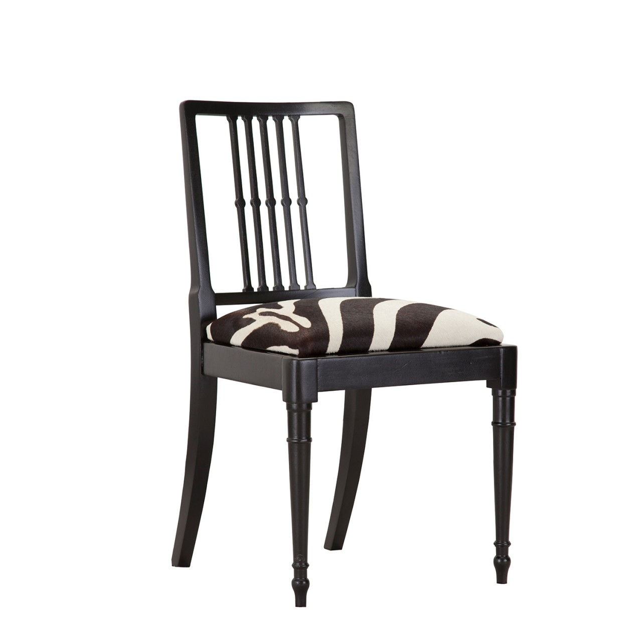 cowhide chairs uk peg perego siesta high chair review upcycled black with zebra print seat