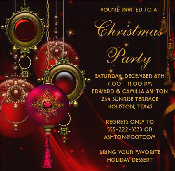 christmas party invitations templates free