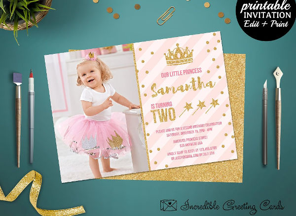 13 Princess Party Invitations Free PSD PNG Vector