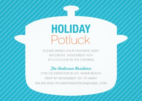 10 Potluck Party Invitations