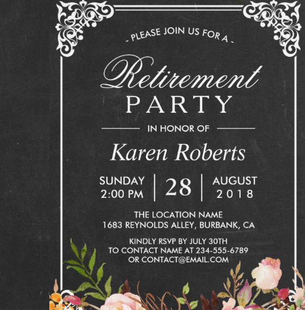 10 Retirement Party Invitations Free PSD PNG Vector