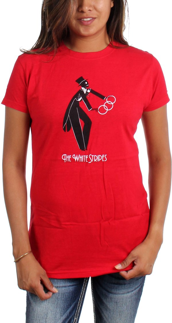 Image result for the white stripes band t shirt