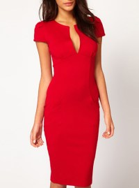Womens Midi Bodycon Dress