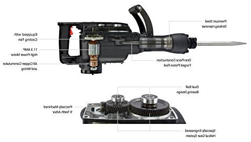 Neiko 02845A Electric Demolition Jack Hammer with Point