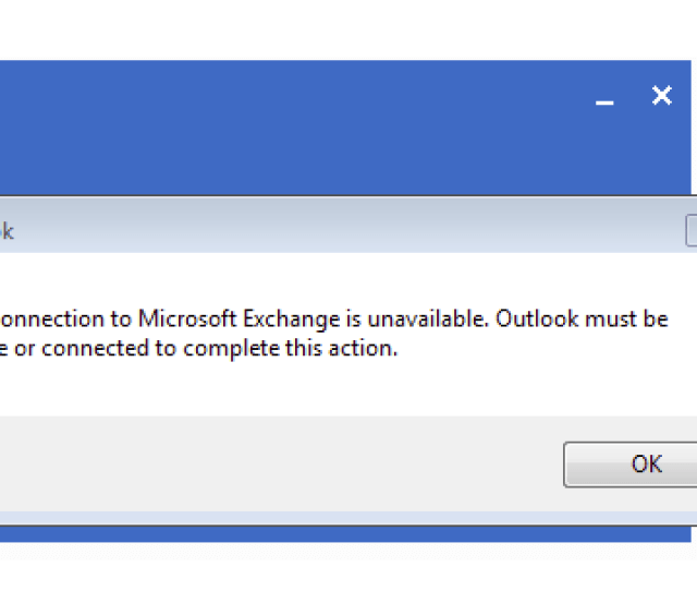 If Youre On Windows And Youre Seeing This Error Saying The Connection To Microsoft Exchange Is Unavailable When You Start Outlook With A Profile For An