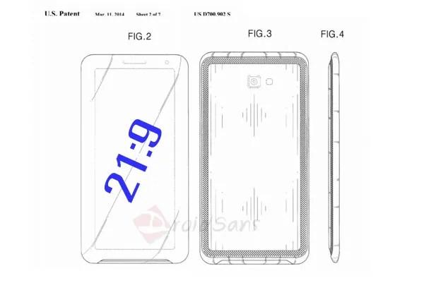 Samsung จดสิทธิบัตรมือถือหน้าจอโรงหนัง อัตราส่วน 21:9