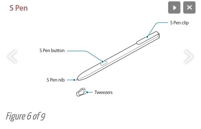 [อัพเดท] หลุดภาพคู่มือ Galaxy Tab S3 เผยปากกา S Pen แต่ไร้