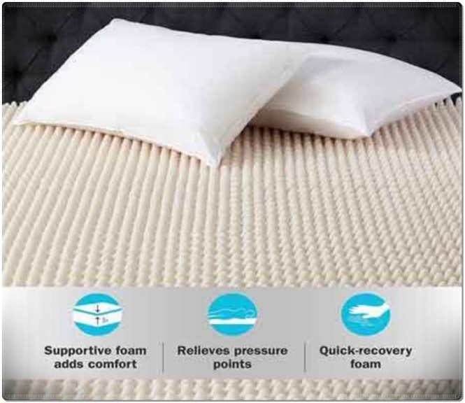 Foam Topper Convulated Pad Queen Size Bed Mattress