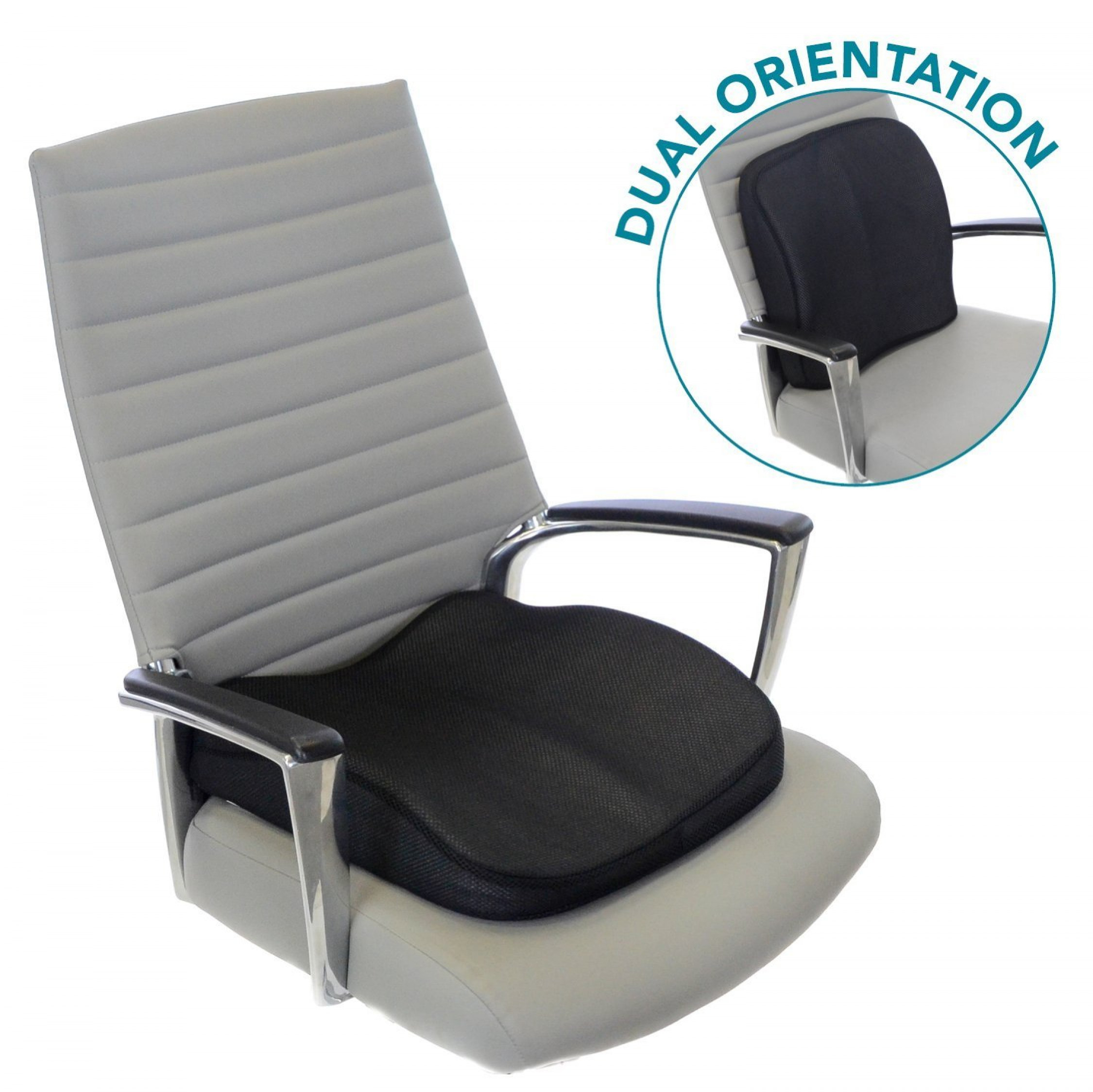 Back Support Chair Memory Foam Seat Cushion For Lower Back Support And Seat