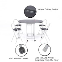 Foldable Dining Table and 4 Chairs, Butterfly Kitchen ...