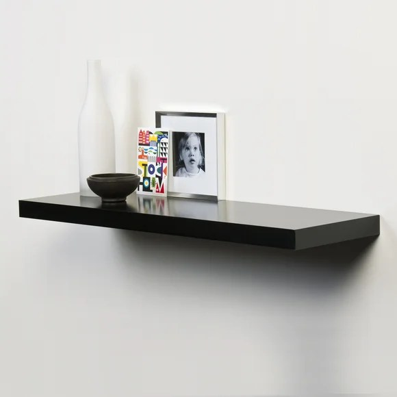Black Gloss Floating Shelf Dunelm
