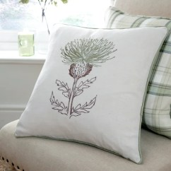 Single Sofa Chair Cover Big Comfy Sectional Green Balmoral Collection Thistle Cushion | Dunelm
