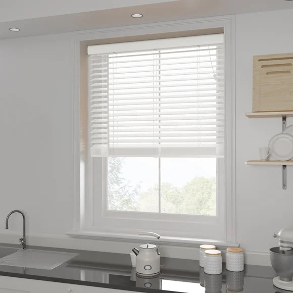 White 50mm Slats Venetian Blind Dunelm