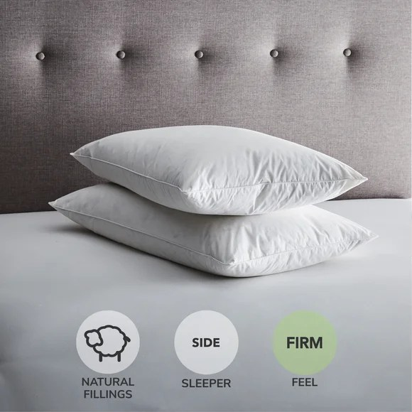 fogarty duck feather and down firm support pillow pair