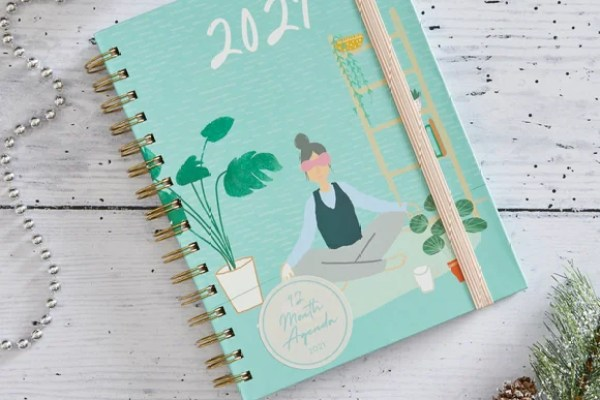 Mindfulness Notebook, Planner and Address Book MultiColoured