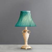 Ornate Urn Twist Pleat Duck Egg Blue Table lamp / Light ...