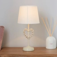 Wicker Heart Table Lamp | Dunelm