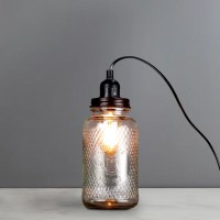 Glass Jar Table Lamp | Dunelm