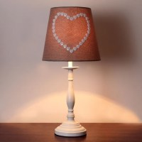 Amour Heart Button Table Lamp | Dunelm