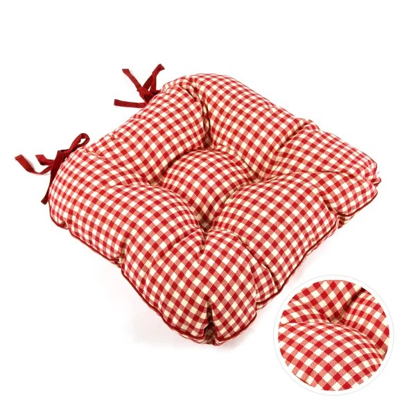 gingham dining room chair covers for two seat pads | cushion dunelm