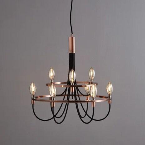 Fredirica 9 Light Copper Chandelier