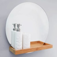 Elements Bathroom Mirror with Shelf | Dunelm