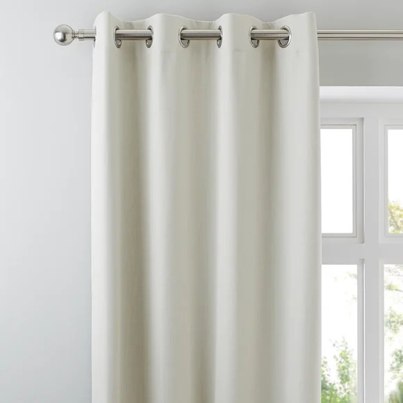 Solar Natural Blackout Eyelet Curtains Dunelm
