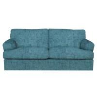 Teal Blue Sofa hendricks teal blue fabric 2 seater sofa ...