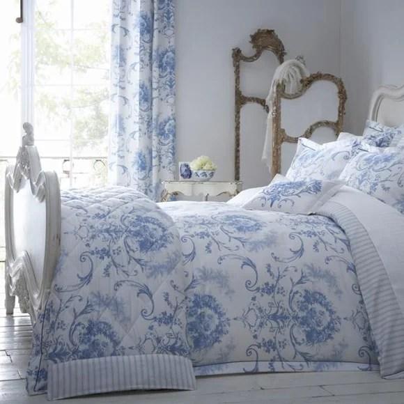Dorma Toile Blue Bed Linen Collection Dunelm