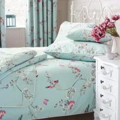 Sofas Delivered Next Day Wicker Indoor Beautiful Birds Duck-egg Bed Linen Collection | Dunelm
